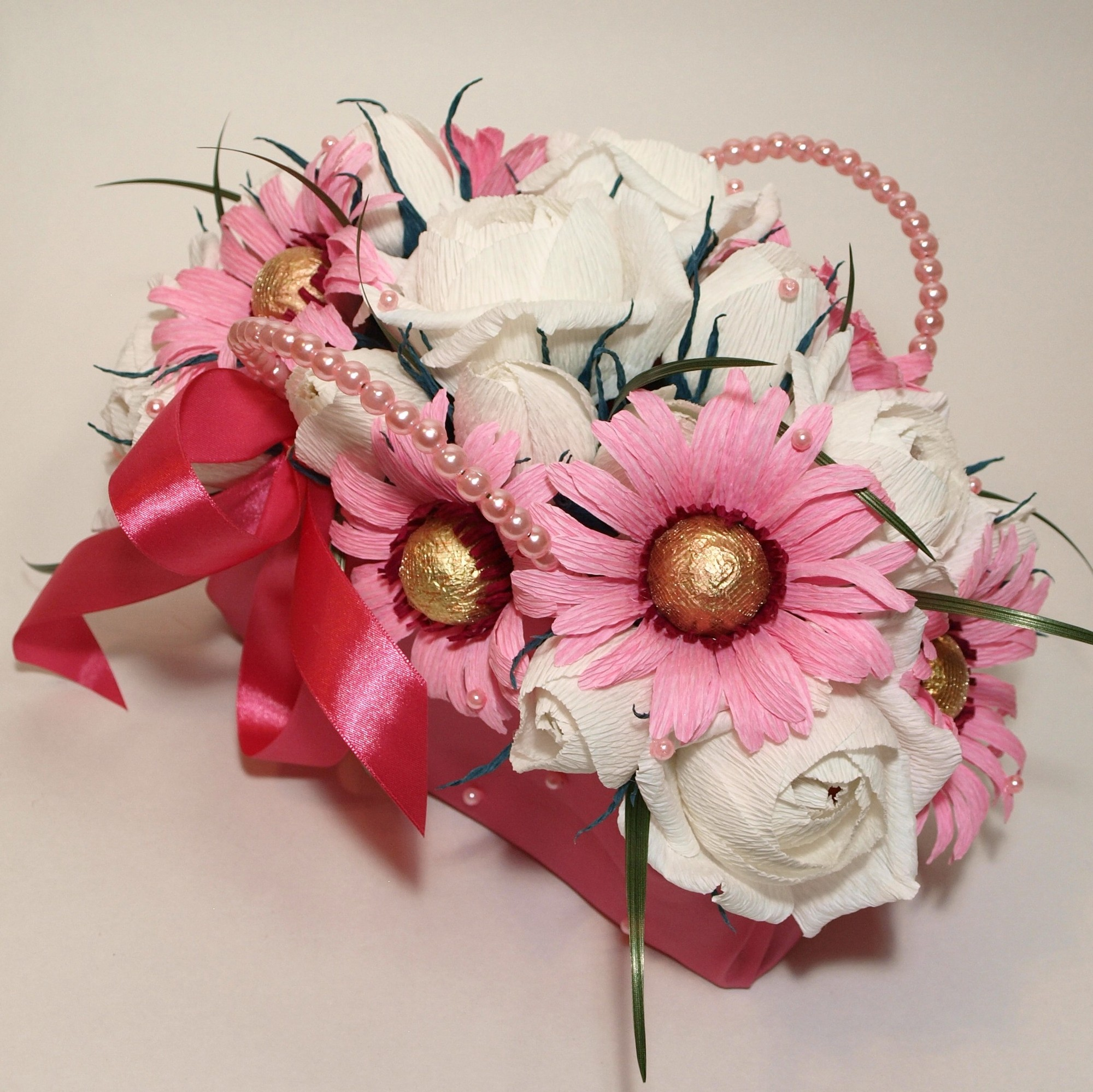 Конфетный букет своими руками розы