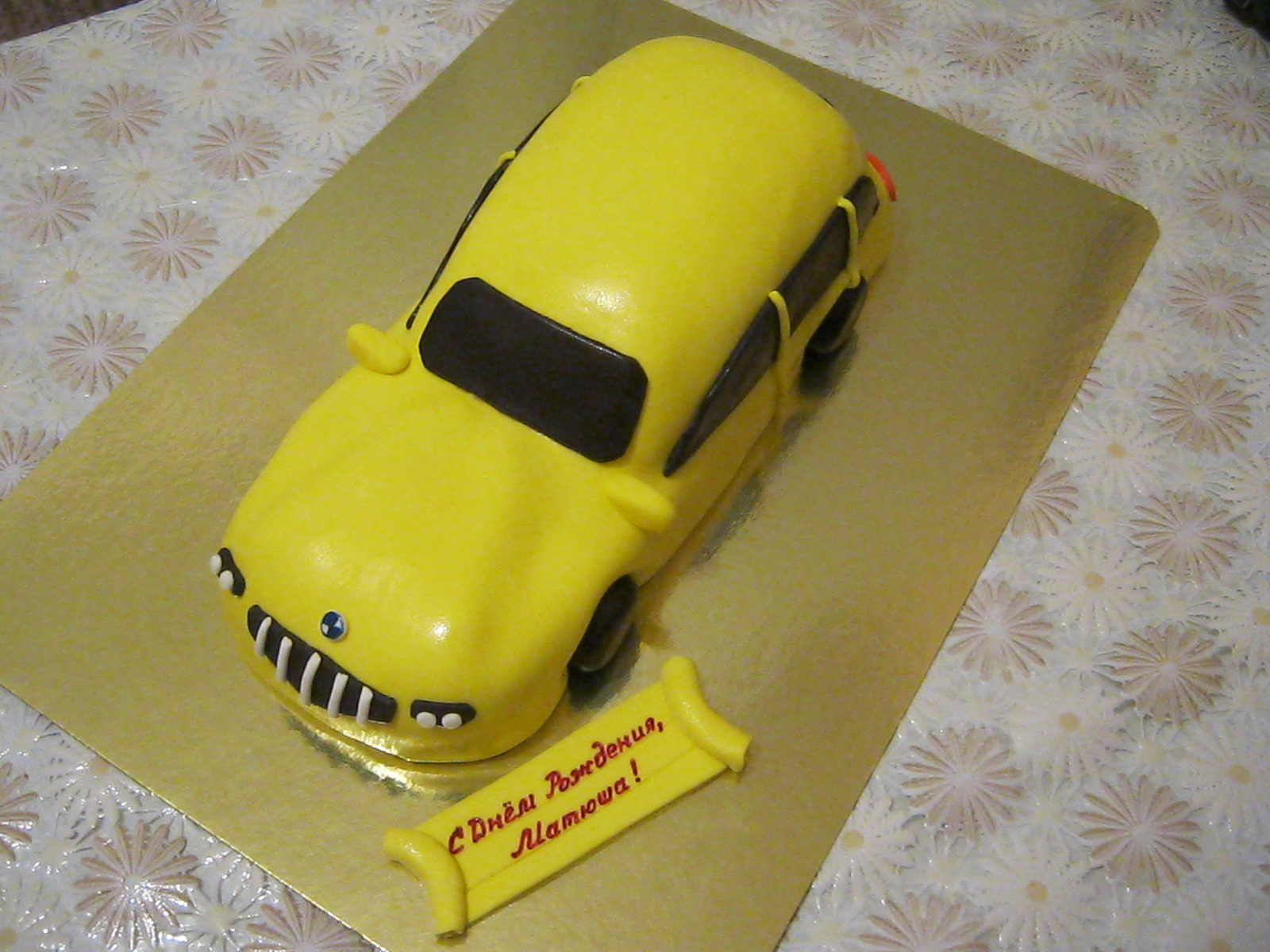 Торт форма машины пошаговое фото
