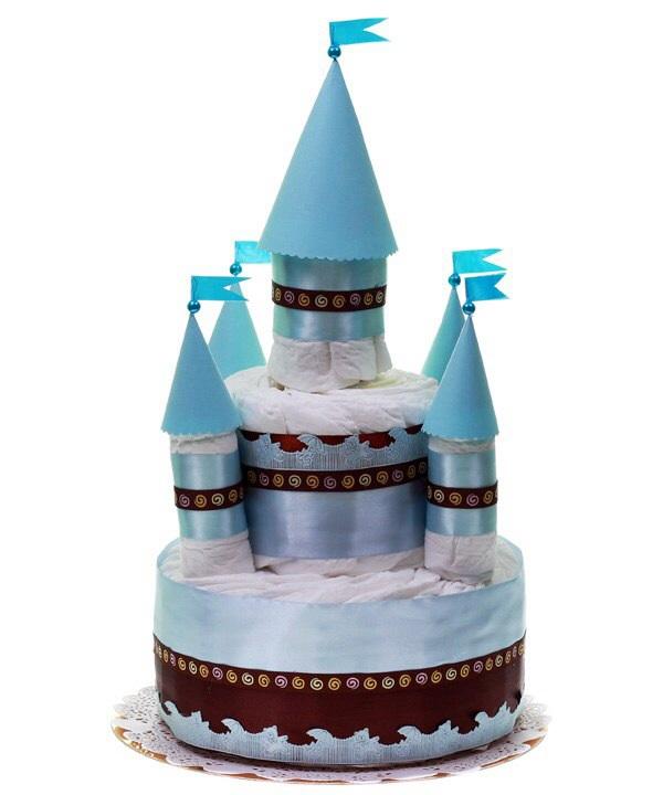 Замок из памперсов своими руками мастер класс