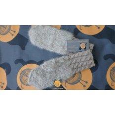 Варежки ручной вязки из шерсти аляскинского маламута