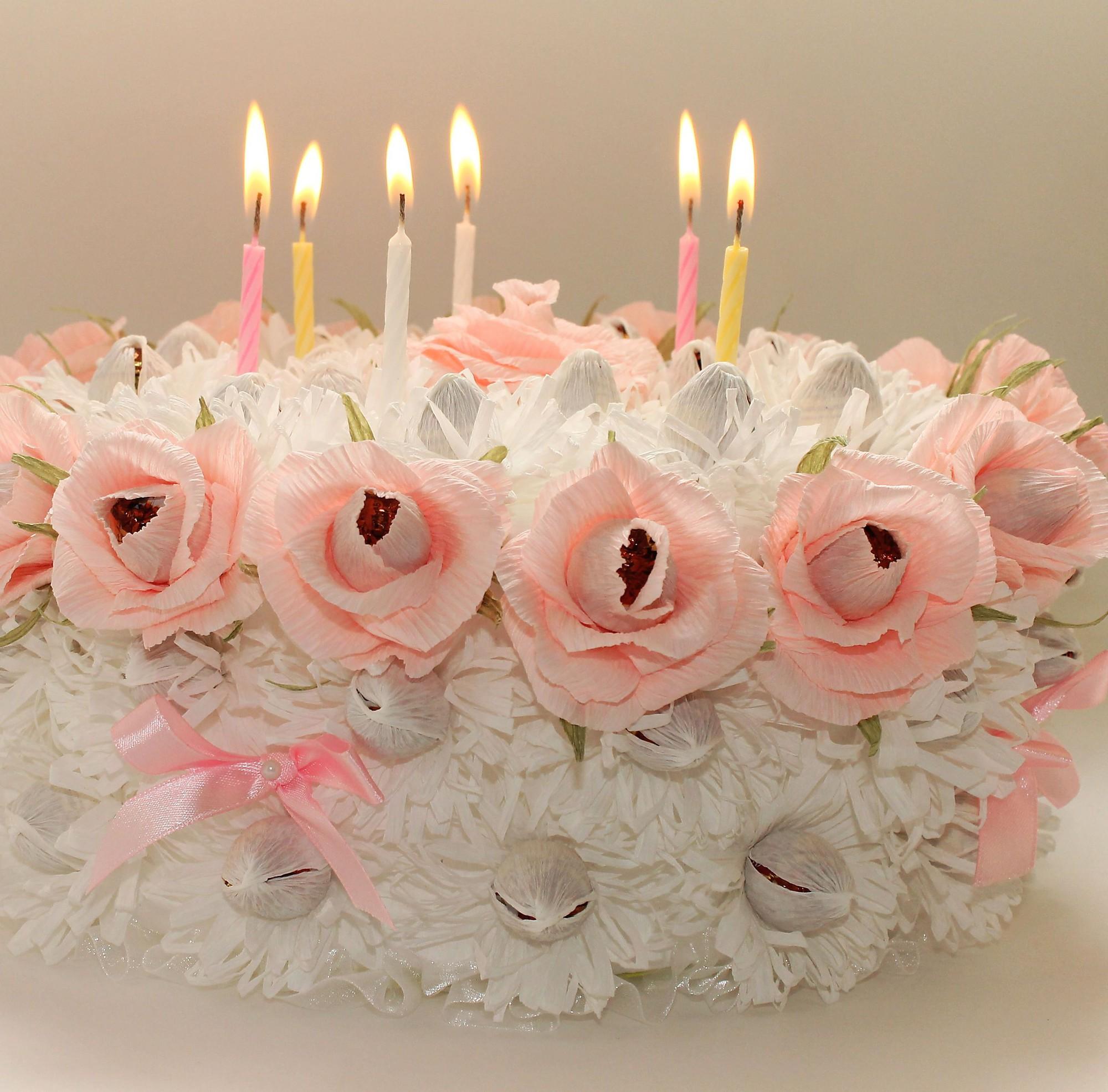 Торт и конфет с цветами своими руками фото 653