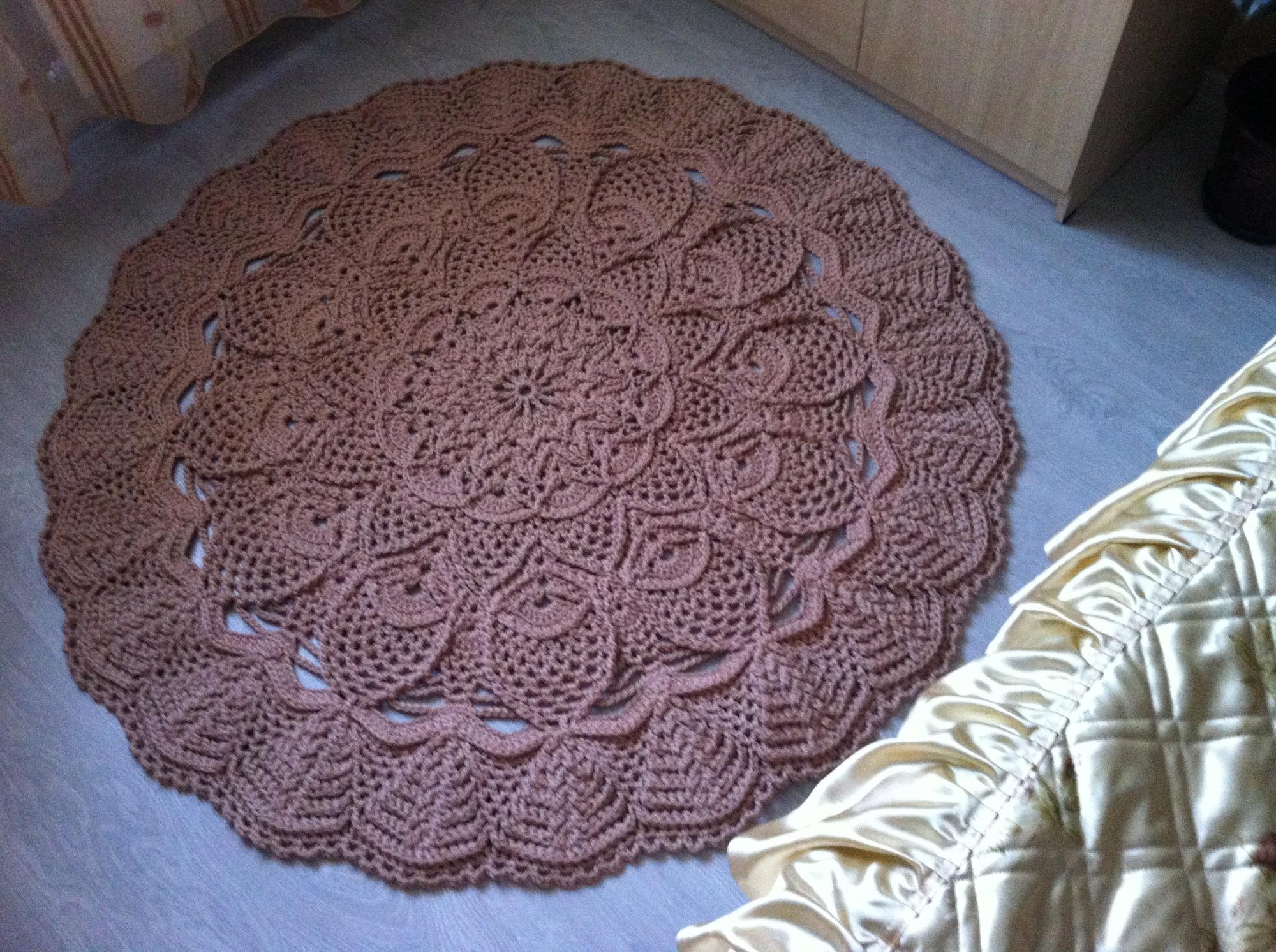 Рельефные ковры вязание крючком 50
