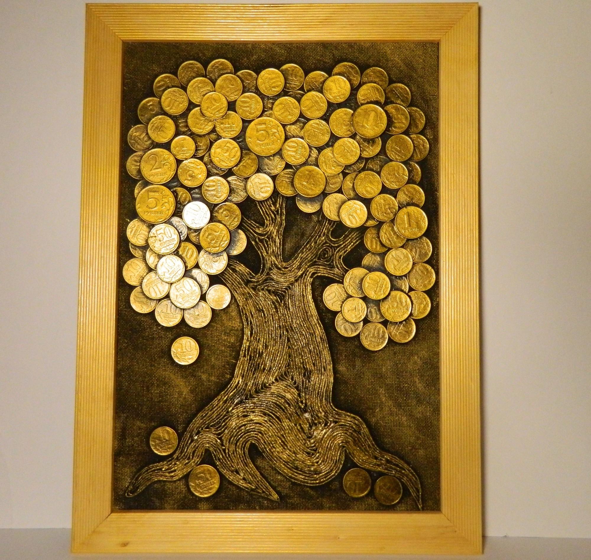 Как сделать денежное дерево из монет