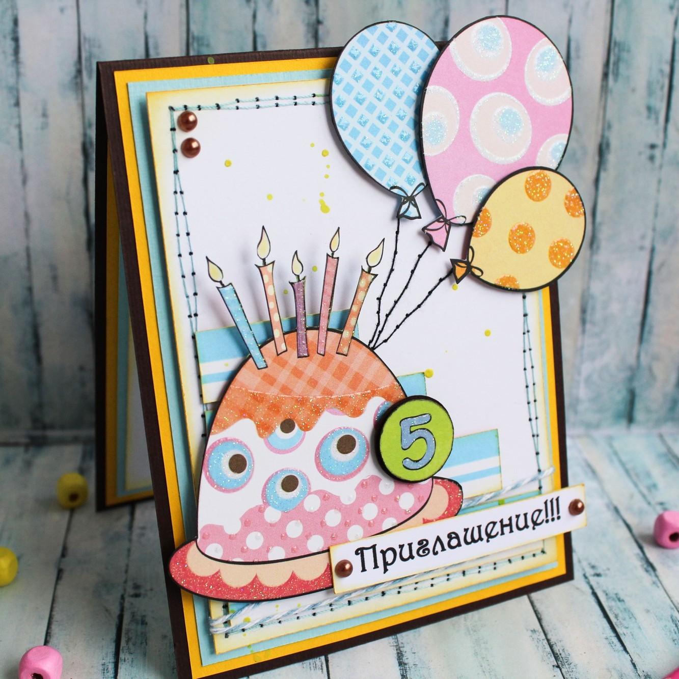 50 идей простых открыток на день рождения своими руками 61