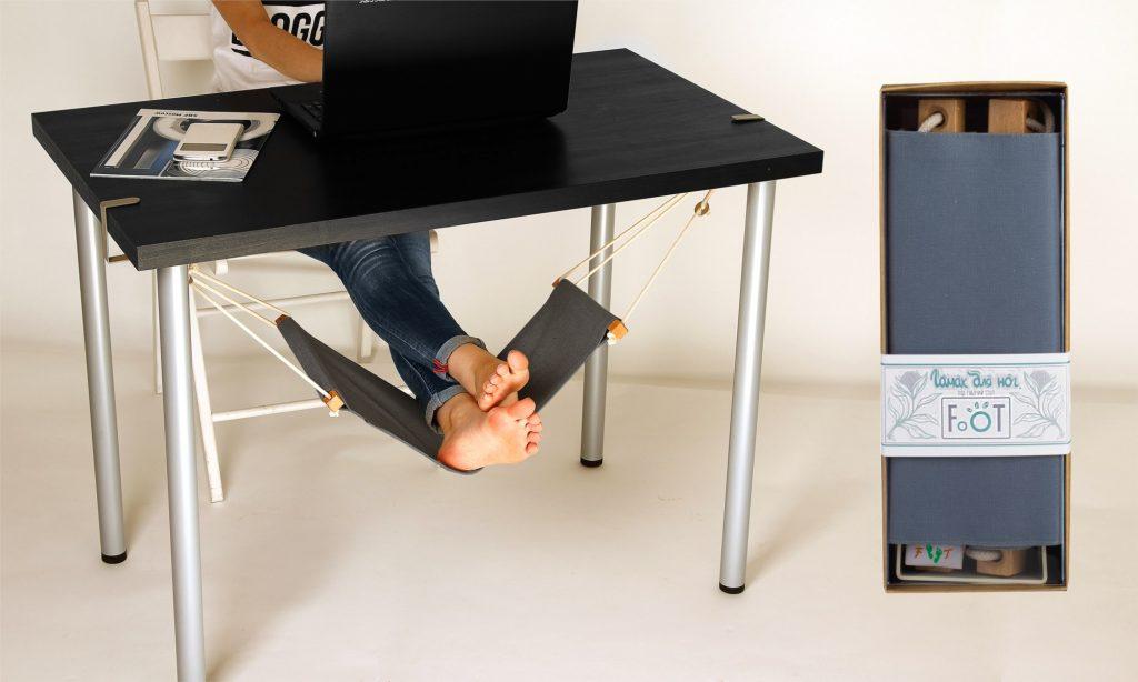 Гамак для ног под рабочий стол GREY с USB подогревом
