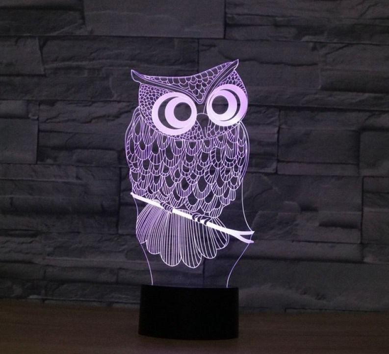 3D светильник «Сова»
