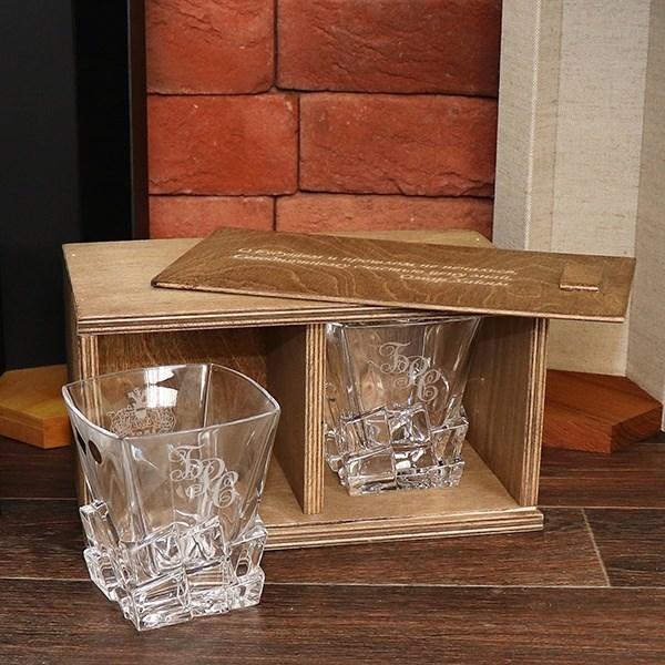 Набор из двух стаканов для виски «Кубики льда»