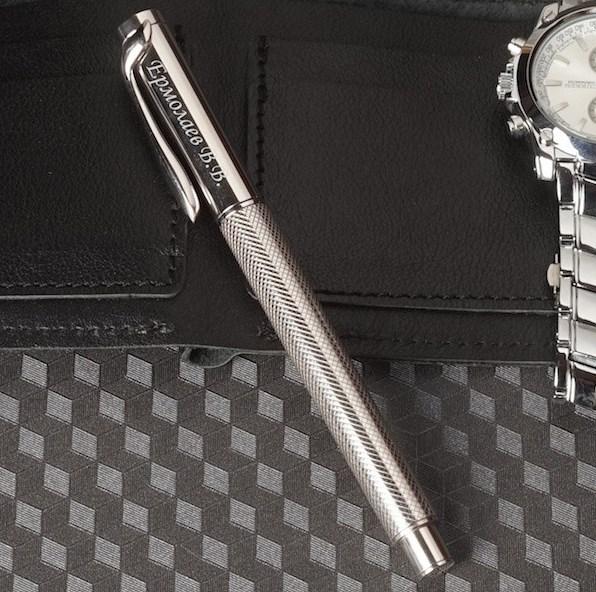 Ручка из серебра 925 пробы с гравировкой «Данте»