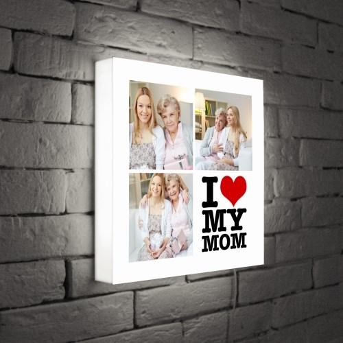 Светильник с Вашим фото I love my mom